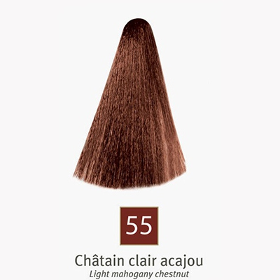 EFFICOLOR Coloration Crème 55 Chatain Clair Acajou