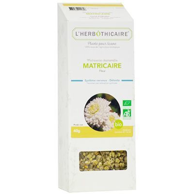 L'HERBOTHICAIRE Plante pour Tisane Camomille Matricaire Bio 50g