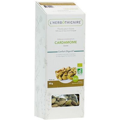 L'HERBOTHICAIRE Plante pour Tisane Cardamome Bio 60g
