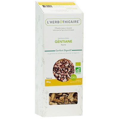 L'HERBOTHICAIRE Plante pour Tisane Gentiane Bio 80g