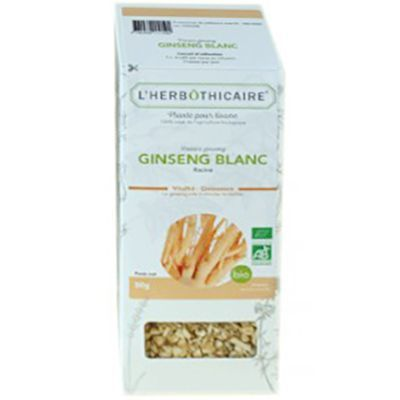 L'HERBOTHICAIRE Plante pour Tisane Ginseng Blanc Bio 50g