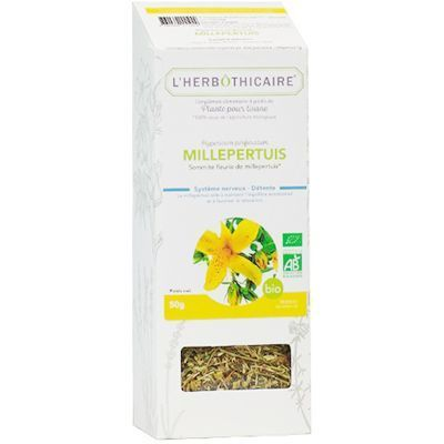 L'HERBOTHICAIRE Plante pour Tisane Millepertuis Bio 50g