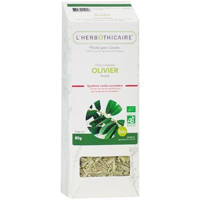 L'HERBOTHICAIRE Plante pour Tisane Olivier Bio 80g