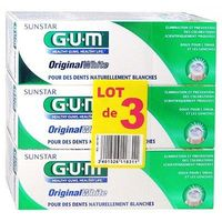 GUM Original White Dentifrice Lot de 3 x 75ml