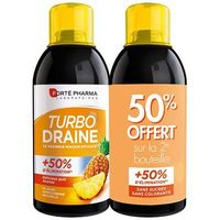 FORTE PHARMA Turbodraine Ananas Lot de 2 x 500ml