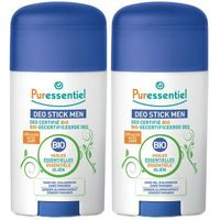 PURESSENTIEL Déo Stick Men Bio Lot de 2 x 50ml