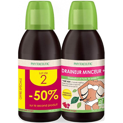 PHYTOCEUTIC Draineur Minceur + Lot de 2 x 500ml