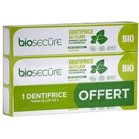 BIO SECURE Dentifrice au Fluor Lot de 3 x 75ml