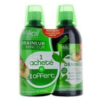 MILICAL Draineur Ultra Thé Vert Lot de 2 x 500ml