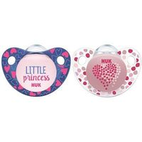 NUK 2 Sucettes Silicone Trendline Fille Taille 3 +18mois