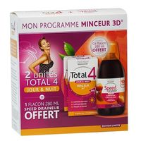 NUTREOV Total 4 Jour & Nuit - Lot de 2 + Speed Draineur