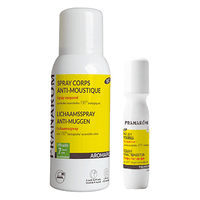 PRANAROM Aromapic Spray Corps Anti-moustique Bio 75ml + Roller Piqûres Bio 15ml