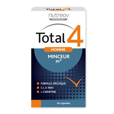 NUTREOV Total 4 Homme Programme Minceur Express 42 Capsules