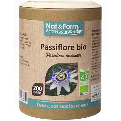NAT & FORM Eco Passiflore Bio 200 gélules
