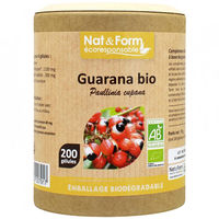 NAT & FORM Eco Guarana Bio 200 gélules