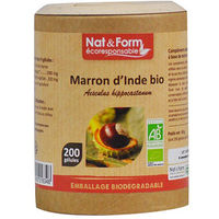 NAT & FORM Eco Marron d'Inde Bio 200 gélules