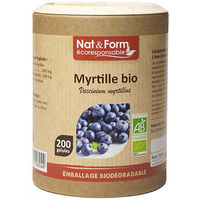 NAT & FORM Eco Myrtille Bio 200 gélules