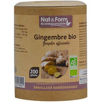 NAT & FORM Eco Gingembre Bio 200 gélules