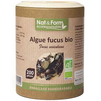 NAT & FORM Eco Algue Fucus Bio 200 gélules
