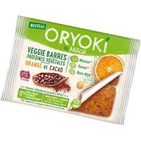 MILICAL Oryoki Veggie Barres Cacao Orange 2 Barres
