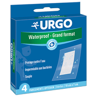 URGO Pansements Tulle Cicatrisant Waterproof - Grand Format 10x7cm
