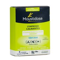 MOUSTIDOSE Compresses Calmantes - 8 compresses x 2.5ml