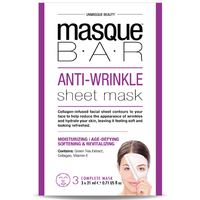 MASQUE BAR Feuille de Masque Anti Rides 3 masques complets