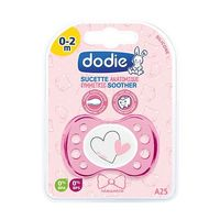 DODIE Sucette Naissance Anatomique Silicone Coeur Rose 0-2 Mois