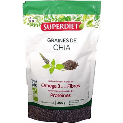 SUPER DIET Graines de Chia Bio Vegan 200g