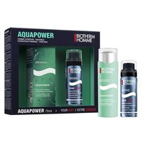 BIOTHERM Homme Coffret AquaPower Soin Oligo-Thermal 75ml + Mousse Rasage 75ml OFFERTE