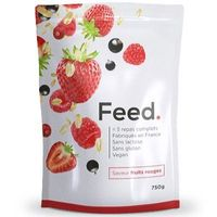 FEED Poudre 5 Repas Complets Fruits Rouges 650kcal 750g