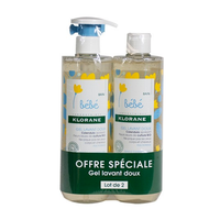 KLORANE BEBE Gel Lavant Doux 500ml Lot de 2