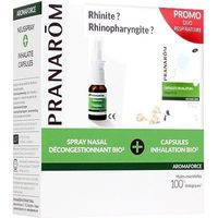 PRANAROM AromaForce Promo Duo Respiratoire Spray Nasal 15ml + Capsules Inhalation x15