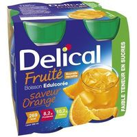DELICAL Fruité Boisson Edulcorée Orange 4x200ml