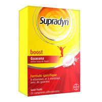 SUPRADYN Boost Guarana 20 comprimés effervescents