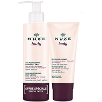 NUXE Body Lait Fluide Corps Hydratant 400ml + Gel Douche Fondant 200ml