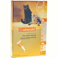 BAYER Advocate Antiparasitaire Petits Chats 3x0,4ml