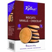 YSONUT La Rythmo Biscuits Vanille Chocolat 6 biscuits