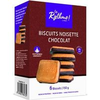 YSONUT La Rythmo Biscuits Noisette Chocolat 6 biscuits