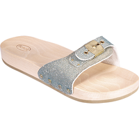 SCHOLL PESCURA FLAT Argent/Or/Turquoise Pointure 36