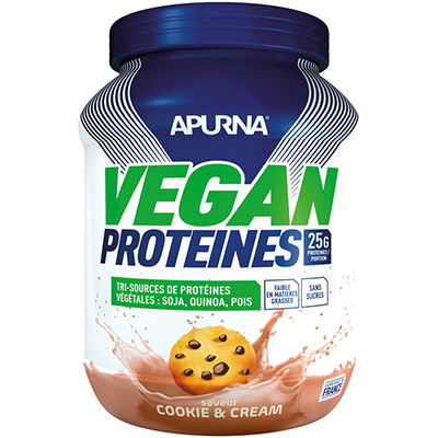 APURNA Vegan Protéines Cookie & Cream 660g