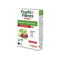 ORTIS Fruits & Fibres Forte Transit Intestinal Action Rapide 12 comprimés