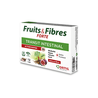 ORTIS Fruits & Fibres Forte Transit Intestinal Action Rapide 12 cubes