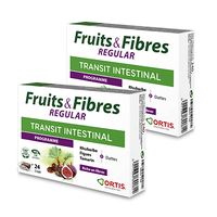 ORTIS Fruits & Fibres Regular Transit Intestinal Programme Lot de 2x24 cubes