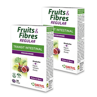 ORTIS Fruits & Fibres Regular Transit Intestinal Programme Lot de 2x30 comprimés