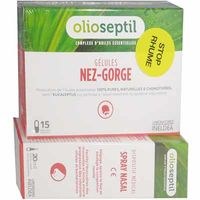 OLIOSEPTIL Nez-Gorge 15 gélules + Spray Nasal 20ml