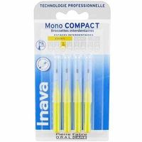 INAVA Mono Compact Etroit 1mm - 4  Brossettes Interdentaires