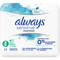 ALWAYS Sensitive Essentials Taille 1 Ultra Normal x14