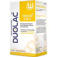 DUOLAC Travel+ 2-in-1 - 30 comprimés