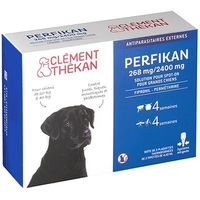 CLEMENT THEKAN Perfikan Antiparasitaire Grands Chiens 4 pipettes